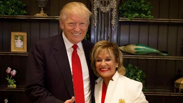 Bertica Cabrera Morris mit Donald Trump.