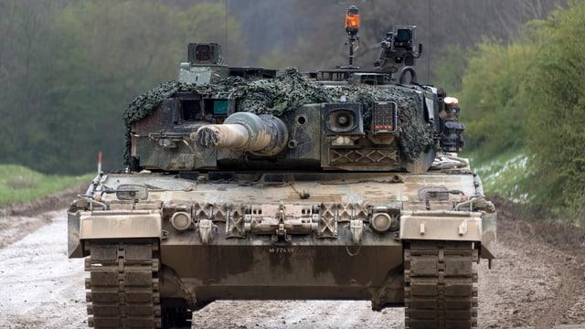 Ein Panzer der Schweizer Armee.