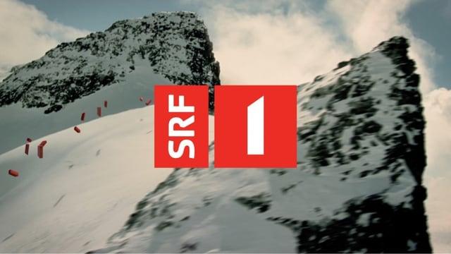 SRF 1 Stationident (Logo mit Berg im Hintergrund)