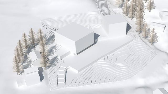 visualisaziun dal nov resort da Belvédère Hotels Scuol