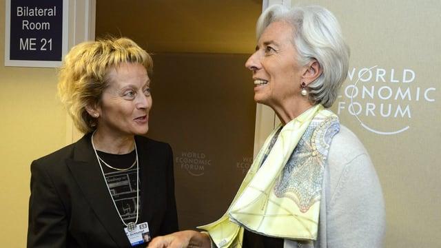 Eveline Widmer-Schlumpf und Christine Lagarde