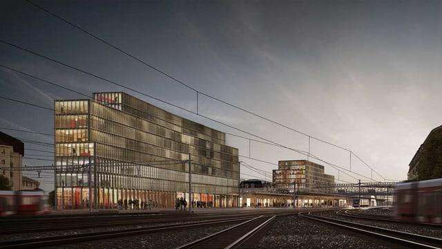 Projektskizze des Bahnhofs Renens.