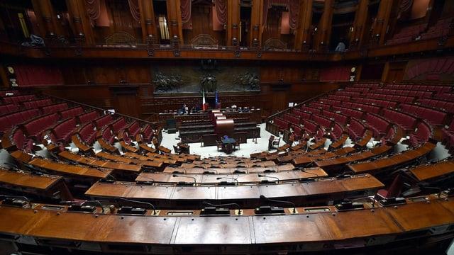 Totale auf einen Parlamentssaal.