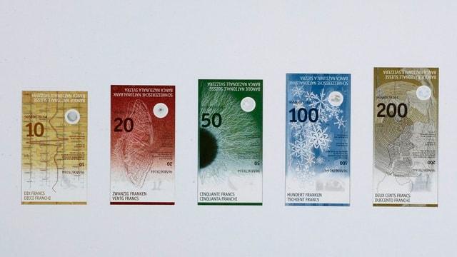 Die neuen Schweizer Banknoten.