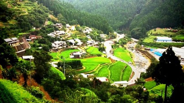 Bild der japanischen Stadt Kamikatsu