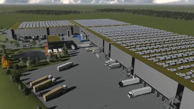 Visualisierung des neuen Logistikzentrums