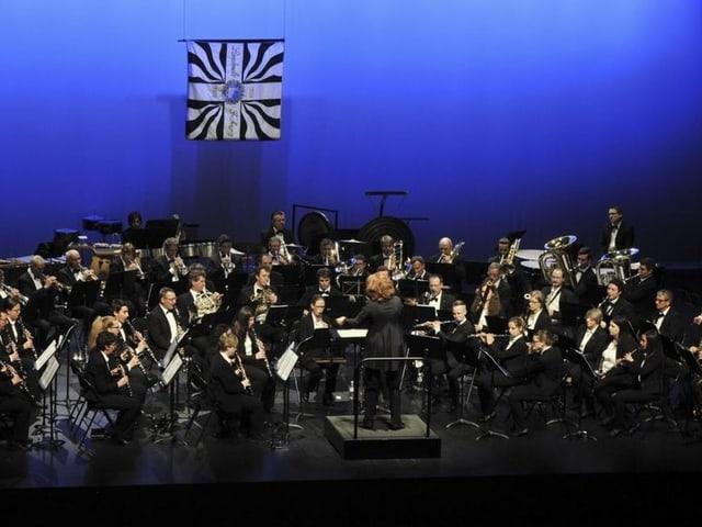 Orchester auf Bühne