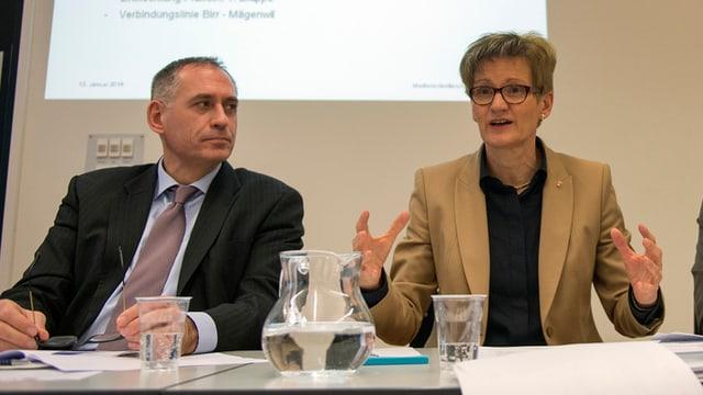Baudirektorin Sabine Pegoraro und Baudirektor Hanspeter Wessels
