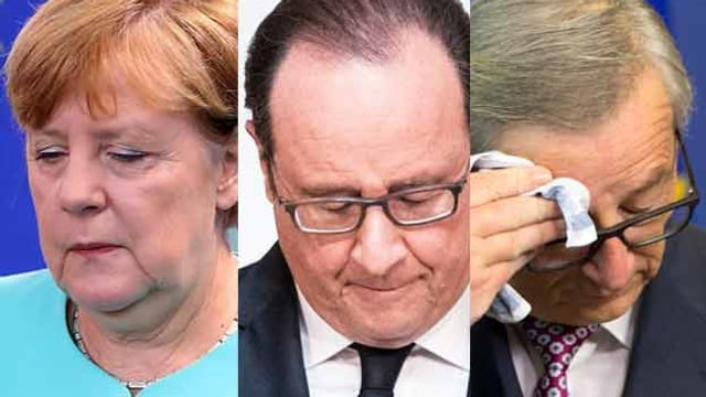 Merkel, Holland, Juncker.
