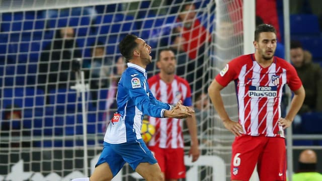 Sergio Garcia trifft spät für Espanyol Barcelona.