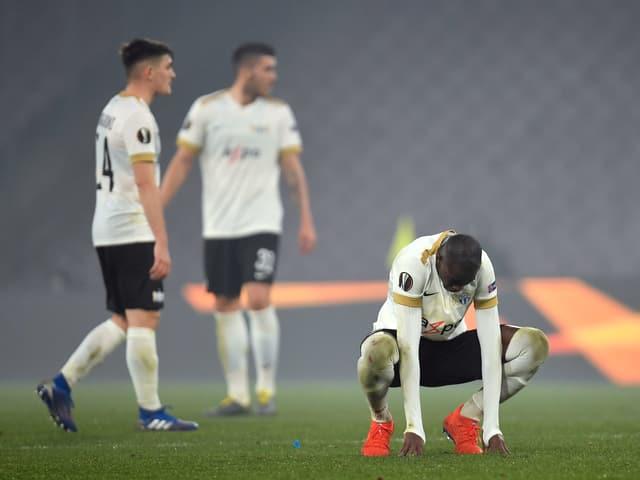 Enttäuschte FCZ-Spieler.