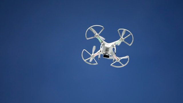 Drohne im Himmel (Keystone)