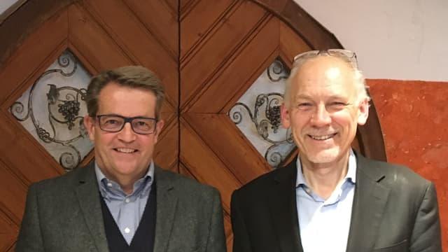 Gaudenz Bavier e Josias Gasser.