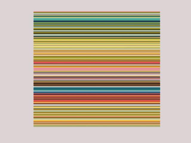 Ein Bild aus vielen farbigen Streifen.
