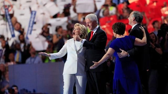 purtret Hillary e Bill Clinton