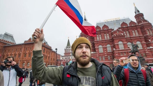 Demonstrant vor Kreml