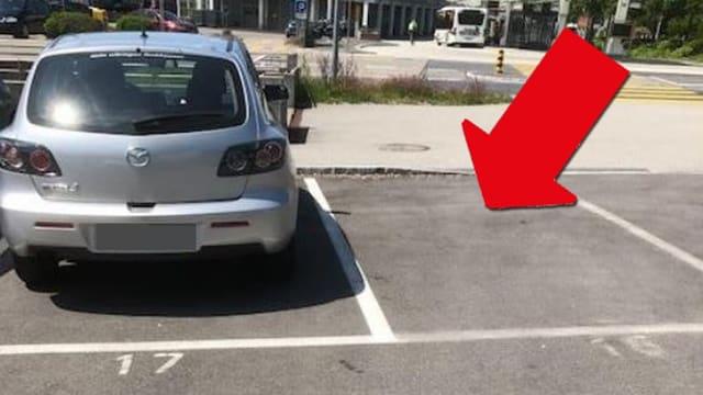 Würden Sie auf diesem Parkfeld parkieren?