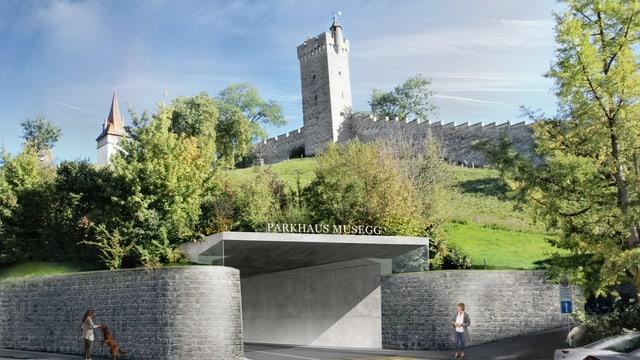 Der Luzerner Stadtrat stellt sich nun generell gegen ein Parkhaus Musegg.