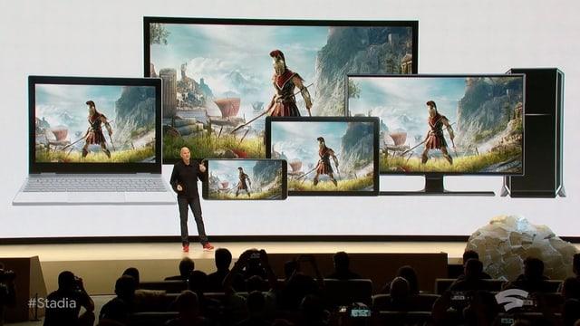 Screenshot Stadia-Präsentation