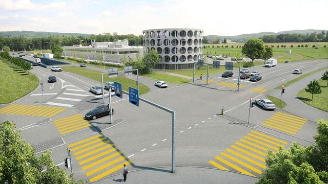 Visualisierung der geplanten Kreuzung bei Lenzburg.