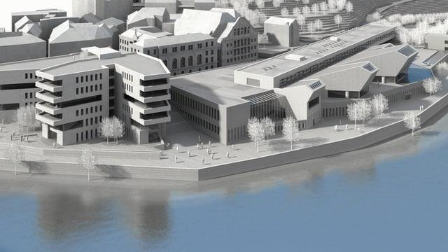 Visualisierung Botta-Bad und Bäderquartier