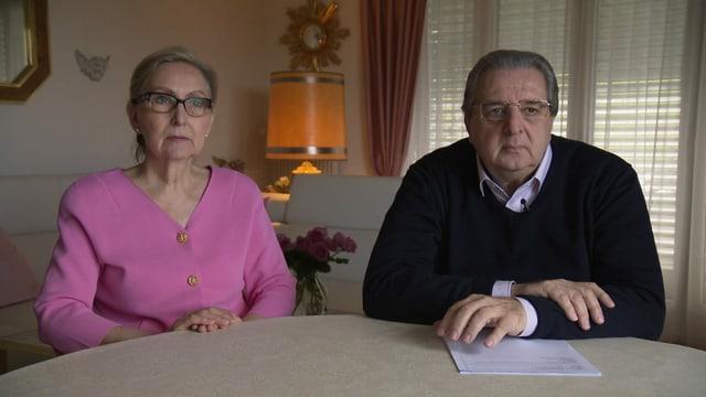 Ehepaar im Interview