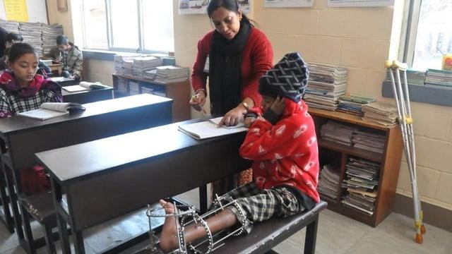 Damit die Kinder nichts verpassen: Spitalschule in Nepal