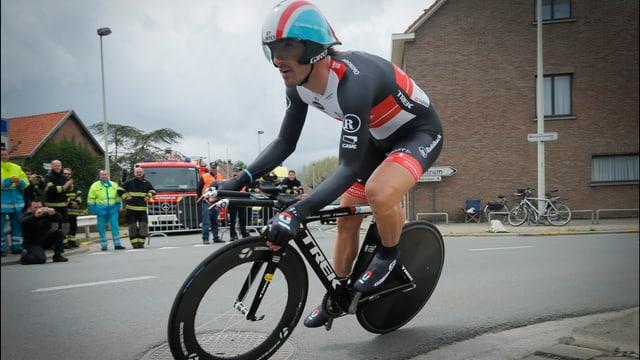 Fabian Cancellara sicherte sich den Schweizer Meistertitel im Zeitfahren.
