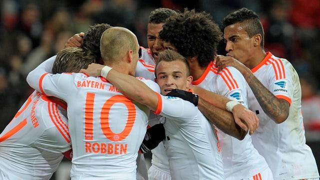 Xherdan Shaqiri stand gegen Leverkusen zu 8. Mal in der Bundesliga in der Startelf.