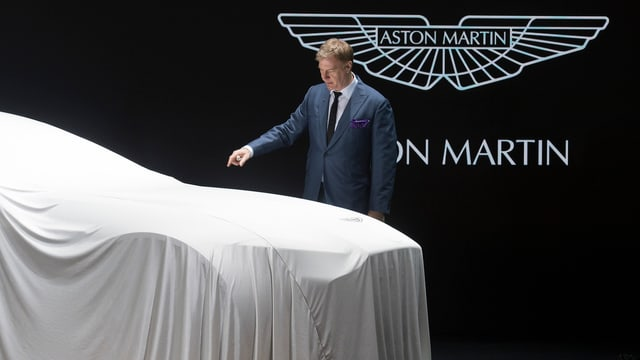 Aston Martin Enthüllung am Autosalon in Genf