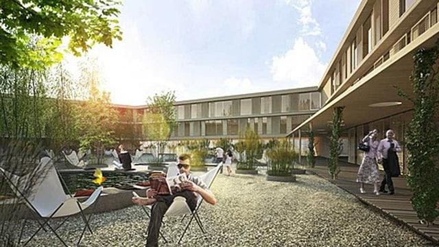 Visualisierung des Hotelprojekts inm Waldstatt