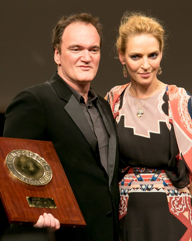 Kult-Regisseur Quentin Tarantino mit seiner Lieblingsschauspielerin Uma Thurman.