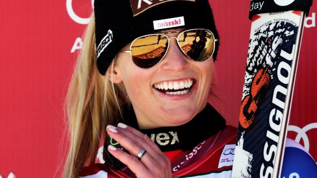 Die Piste im kanadischen Ski-Resort kommt Lara Gut nicht unbedingt entgegen.