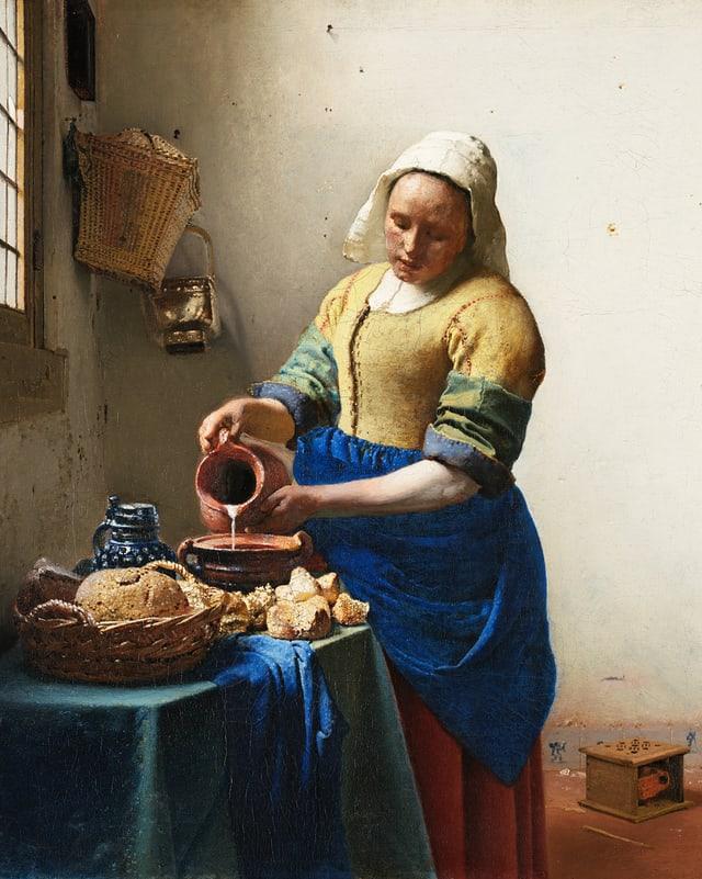 Frau mit Krug auf einem Gemälde