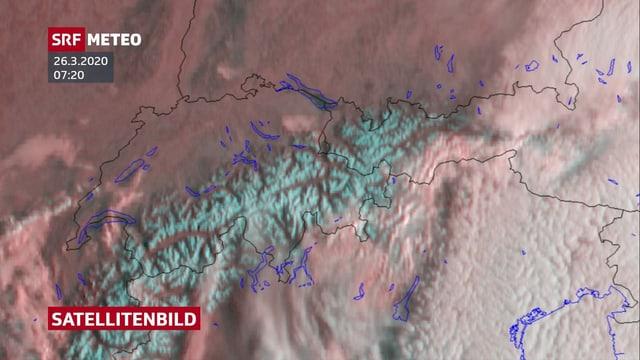 Satellitenbild von heute Morgen