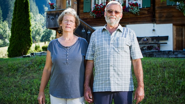 Chris und Otto Kaufmann: Kommt es zu keiner Einigung mit den Jungfraubahnen, droht die Enteignung ihres Hauses.