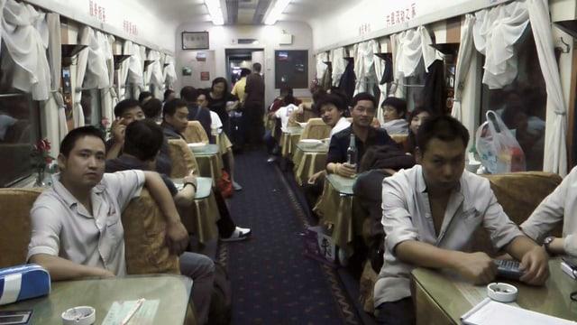 Im Zug in China.