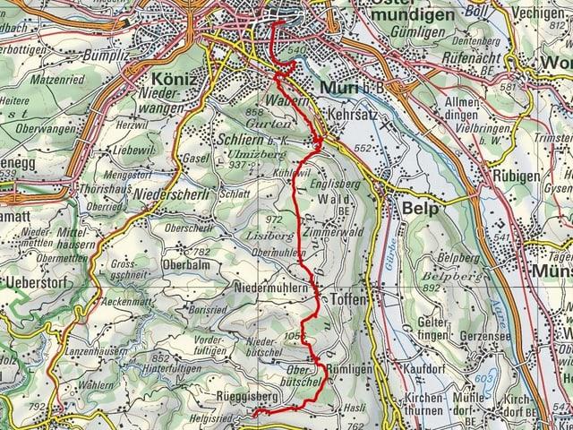 Etappe 9: Bern – Rüeggisberg