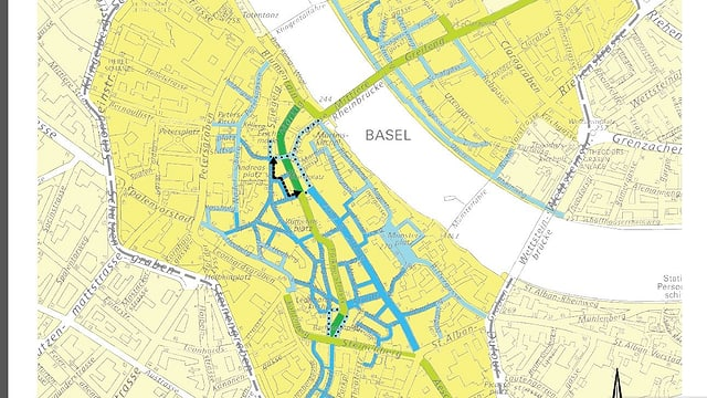 Stadtplan mit gesperrten Strassen