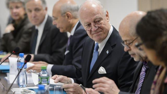Bild des UNO-Friedensvermittlers Staffan de Mistura.