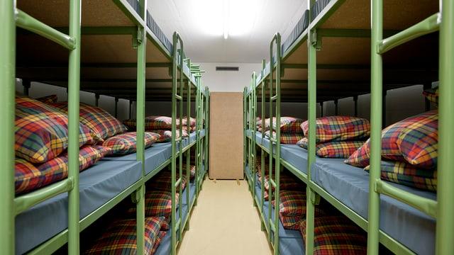 Betten in Zivilschutzanlage