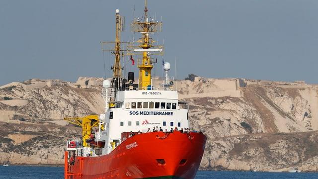 Das Rettungsschiff Aquarius.