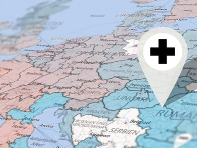 POI auf Europakarte