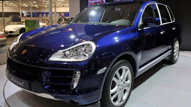 In Porsche Cayenne.