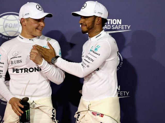 Bottas und Hamilton