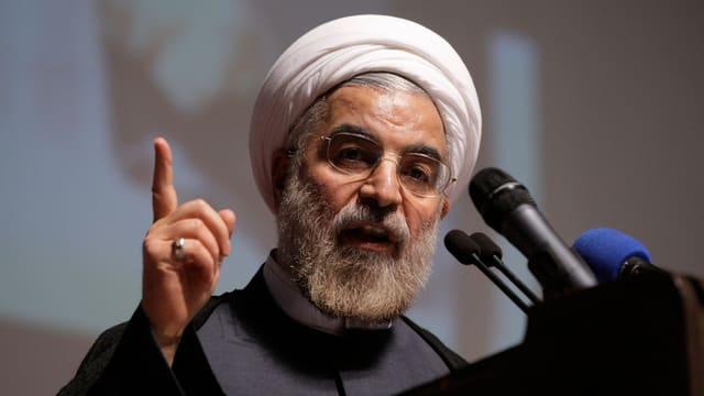 Il president iranais che tegna si ses det e discurra.