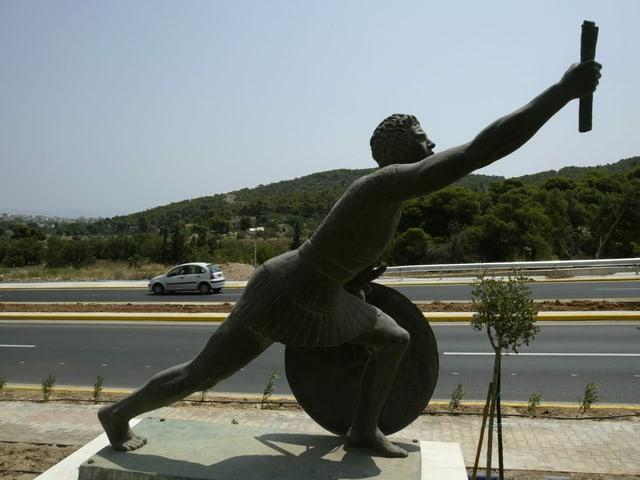 Statue von Pheidippides