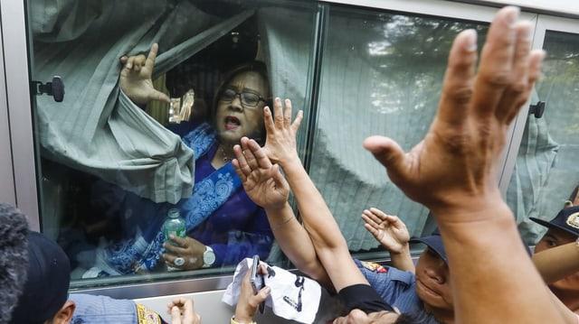 Senatorin Leila De Lima: Der Duterte-Kritikerin wird die Verwicklung in Drogenhandel vorgeworfen.