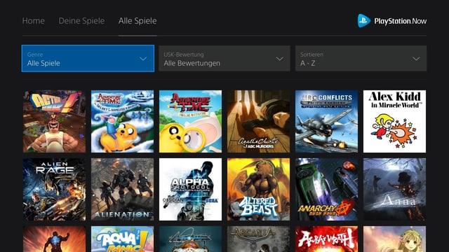Eine Auswahl von vier Playstation-Games.