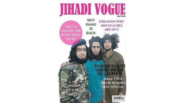 Fotomontage, das eine Parodie auf IS zeigt